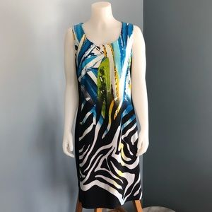 Bali Sleeveless Animal Print Shift Dress